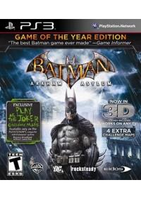Batman Arkham Asylum Game Of The Year Edition/PS3