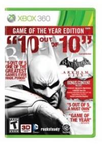 Batman Arkham City Game Of The Year/Xbox 360