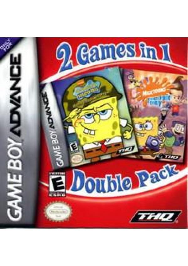 SpongeBob Squarepants Battle for Bikini Bottom & Nicktoons Freeze Frame Frenzy Double Pack/GBA