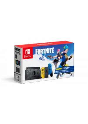 Console Nintendo Switch Fortnite Wildcat Bundle - Joy-Con Bleu Et Jaune