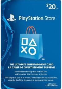 Carte Cadeau PSN 20$ (Playstation Network)