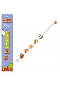 Bracelet Brode Super Mario Bros. blanc
