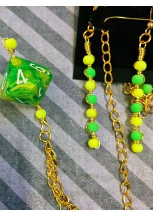 Ensemble 2 Pieces D10 Toxic Slime