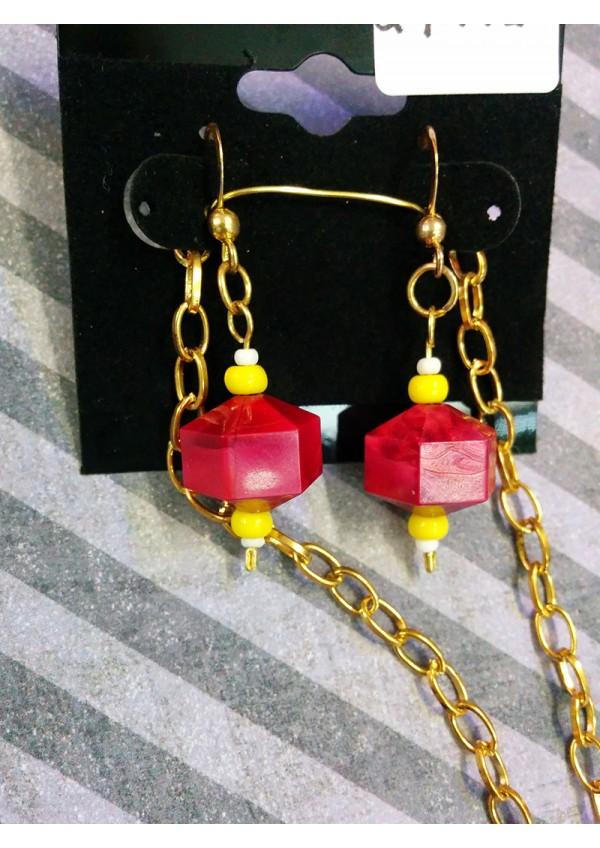 Ensemble 2 Pieces D6 Marbre Rouge