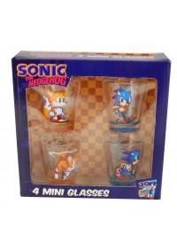 Mini-Verres (Shooters) Transparents Sonic the Hedgehog - Paquet de 4
