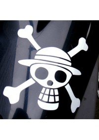 Autocollant One Piece pour Voitures etc. : Drapeau Straw Hat Pirates