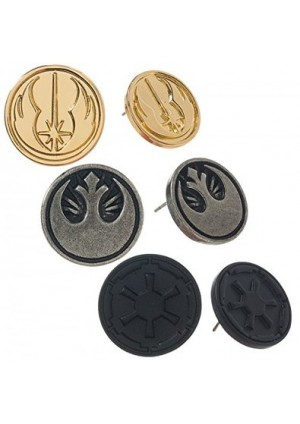 Boucles d'oreilles Star Wars Logos (set de 3)