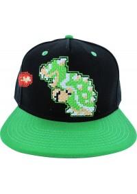 Casquette Super Mario Brodée - Bowser Pixelisé
