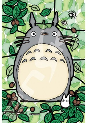 Casse-Tête Art Crystal - Totoro sur Fond Feuillu (Vitrail) 10x14.7 cm, 126 pieces