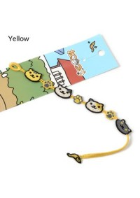 Bracelet Brodé Neko Atsume / Kitty Collector - Jaune