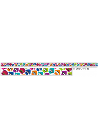 Ruban Décoratif Autocollant (washi tape) - Splatoon Motif Calmars Colorés