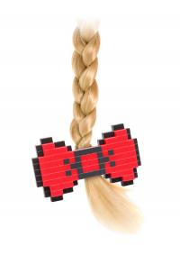 Barrette pour Cheveux : Boucle Rouge 8-Bits