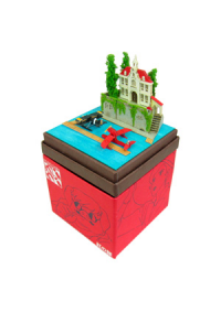 Kit Papercraft Miniatuart Studio Ghibli : L'Hôtel Adriano (Porco Rosso)