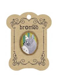 Broche Cameo en Broderie - Mon Voisin Totoro