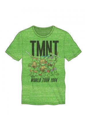 T-shirt TMNT Vert - World Tour 1984