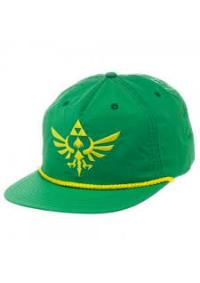 Casquette Legend of Zelda Verte et Jaune - Logo Brodé