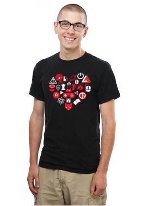 T-shirt Coeur en Icônes Geek