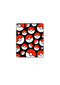 Jeté en Molleton Pokémon - Motif Pokeball