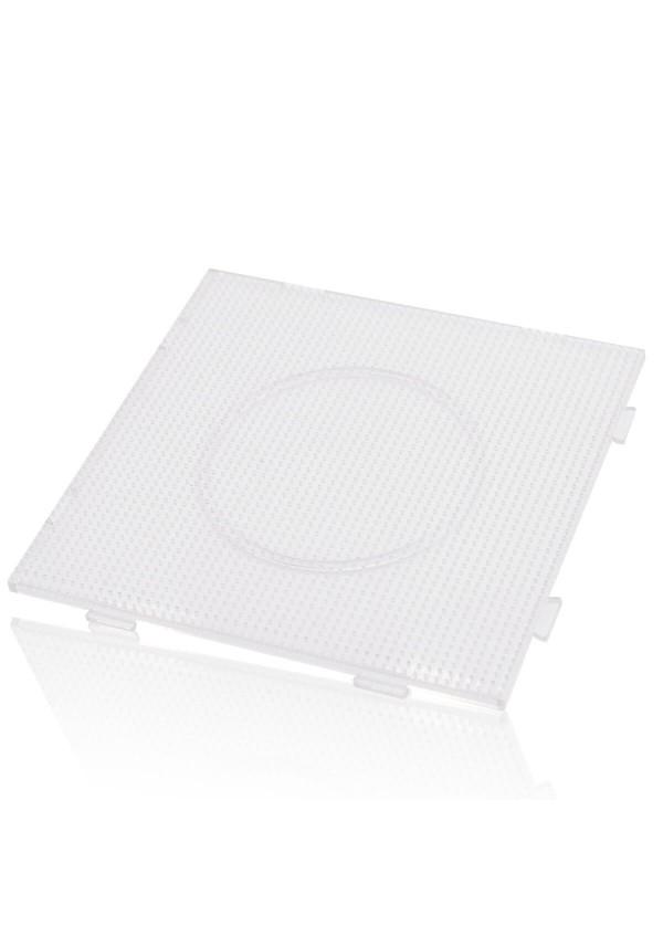 Plaque Carrée Artkal (Pegboard) Transparente De 14.5 cm Pour Perles De Taille Midi 5mm à Fusionner