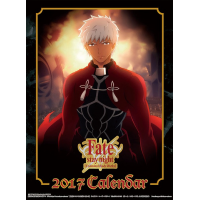 Calendrier Poster 2017 Fate Stay Night : Unlimited Blade Works