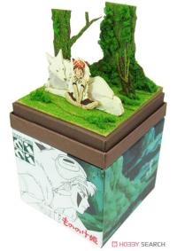 Kit Papercraft Miniatuart Studio Ghibli : Princesse Mononoke - San & Moro