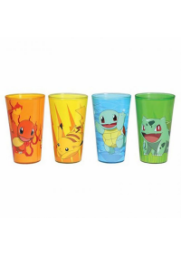 Kit de 4 Verres Pokemon (Pintes 16 oz) - 4 Starters