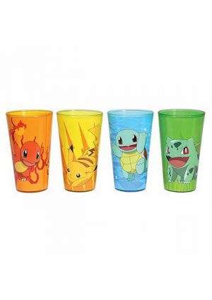 Kit de 4 Verres Pokemon (Pintes 16 oz) - 4 Starters