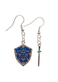 Boucles d'Oreilles Zelda - Épée & Bouclier