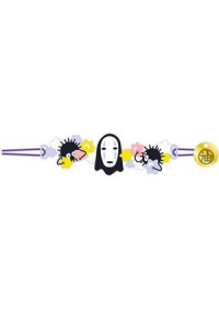 Bracelet Brodé Studio Ghibli - Spirited Away Kaonashi (Sans Visage)