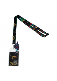 Lanière de Cou (Lanyard) Zelda - Breloque Bouclier