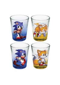 Mini-Verres (Shooters) Colorés Sonic The Hedgehog - Paquet De 4