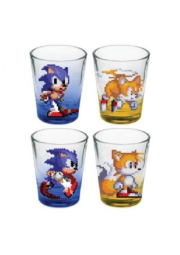 Mini-Verres Colorés Sonic The Hedgehog Mini Glasses (Paquet De 4)
