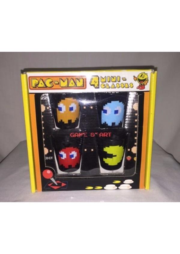 Mini-Verres Transparents Pac-Man Mini Glasses (Paquet De 4)
