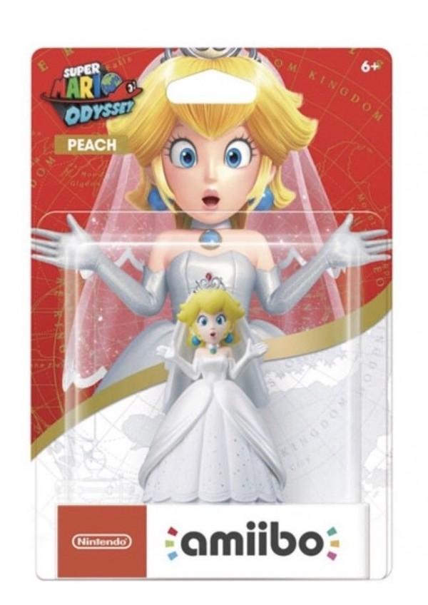 Figurine Amiibo Mario Odyssey - Peach Wedding Outfit