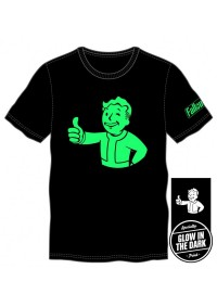 T-Shirt Fallout - Vault Boy Glow in the Dark