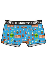 Boxers Super Mario Bros. Motif Bleu