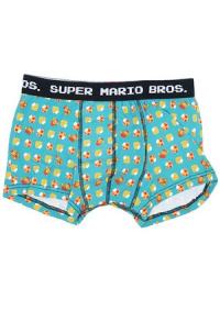 Boxers Super Mario Bros. Motif Turquoise