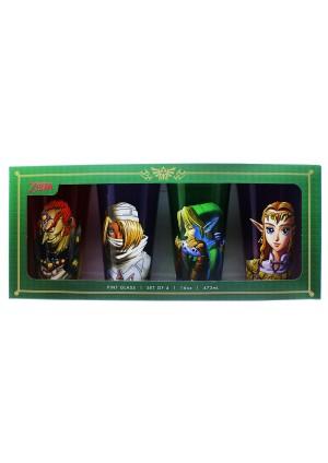 Kit de 4 Verres Legend Of Zelda (Pintes 16 oz) - Legend Of Zelda Ocarina Of Time