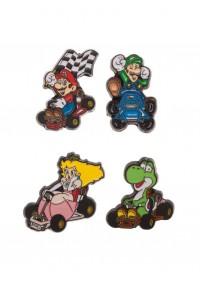 Épinglettes (Pins) Mario Kart - Kit de 4