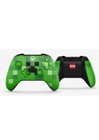 Manette Xbox One Sans Fil Originale Microsoft Minecraft Creeper