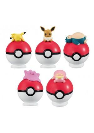 Gashapon Pokemon - Pokemon En Équilibre Sur Une Pokéball