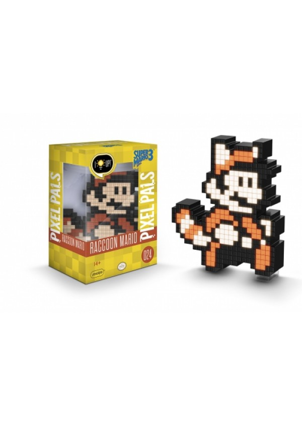 Figurine Lumineuse Pixel Pals Super Mario Bros 3 # 024 - Raccoon Mario
