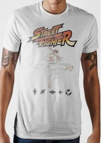 T-Shirt Street Fighter - Ryu Kick