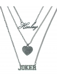 Collier Suicide Squad - Harley, Joker, Coeur