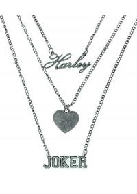Collier Suicide Squad - Harley, Joker, Coeur