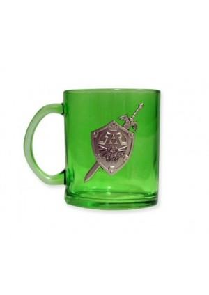 Tasse en Verre Zelda - Bouclier et Master Sword