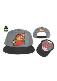 Casquette Super Mario Pixel - Grise et Noire