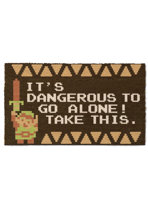 Tapis D Entree Zelda It S Dangerous To Go Alone Take This