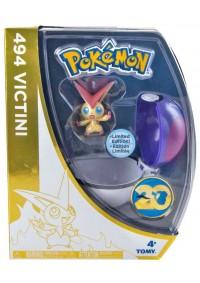 Figurine Et Pokeball 20e Anniversaire De Pokemon - 494 Victini
