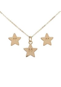 Boîte Cadeau Super Mario (Collier et Boucles d'Oreille) - Étoiles